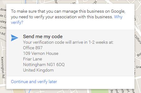 Google Map Verify