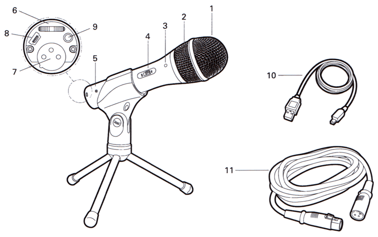 Audio Technica ATR2100 Instruction Diagram
