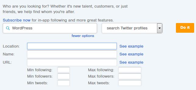 Followerwonk search Derby profiles