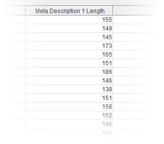 Screaming Frog Meta Description Length