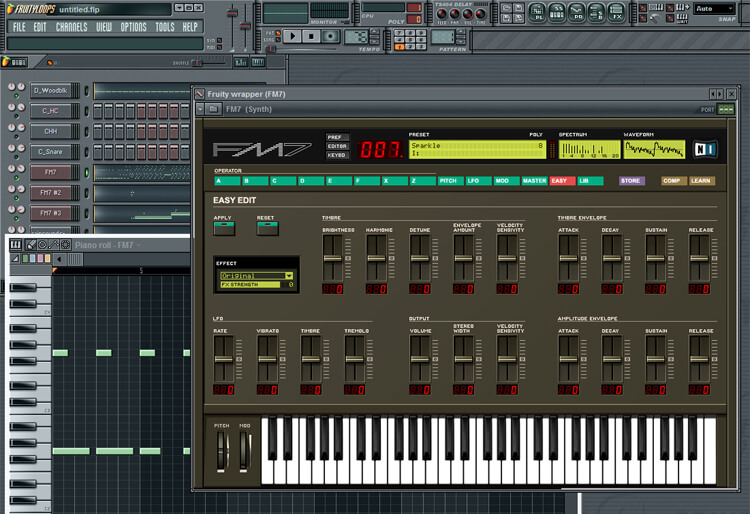Fruity Loops 3.4 Music Screenshot
