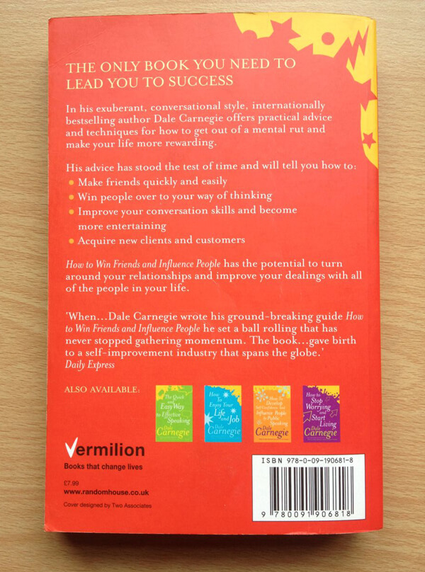 How to Win Friends and Influence People Back Cover