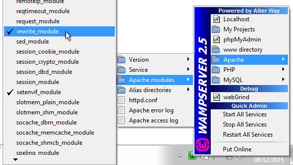 WAMP Apache rewite_module