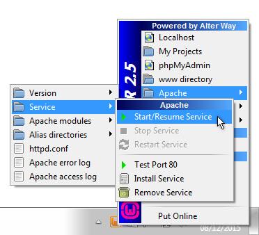 WAMP Apache Services