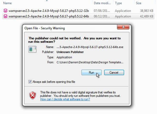 WAMP Security Certificate