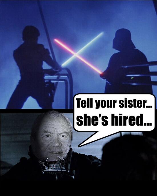 Luke Skywalker Darth Vader  dual