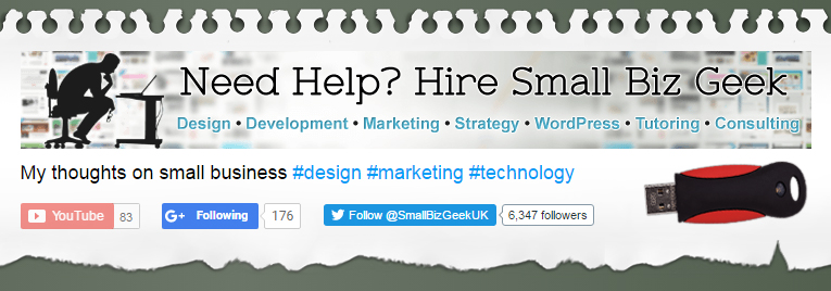 Small Biz Geek Header without ad blocker