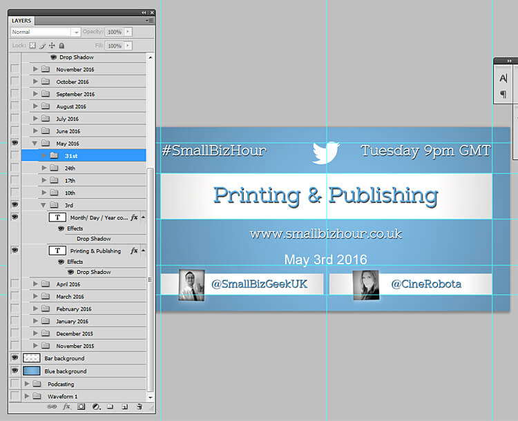 Twitter newsfeed photoshop template screenshot