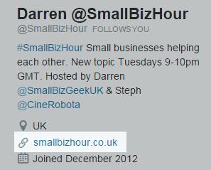Twitter profile information screenshot