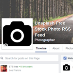 Unsplash RSS Facebook