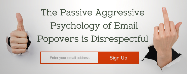 Rant: Manipulative Website Email Popovers Look Like Backhanded Ransom Notes