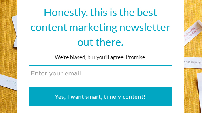 Email popup with good manners