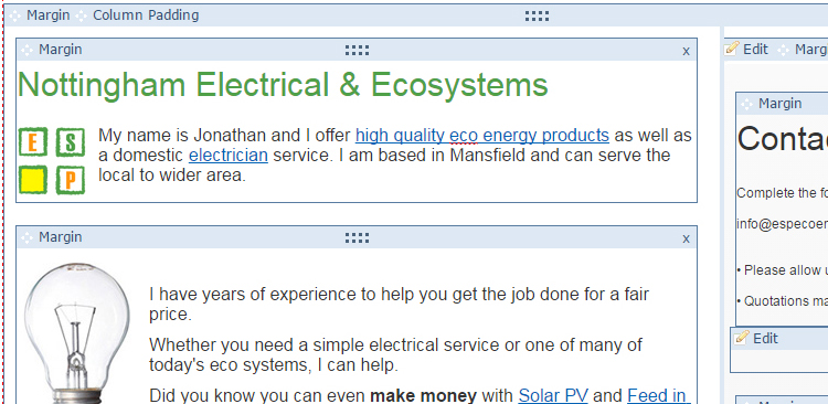 Yola Website editor Screenshot