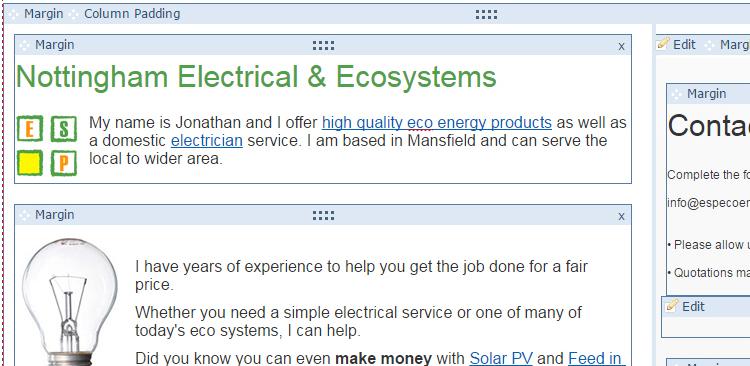 Yola Website editor Screenshot