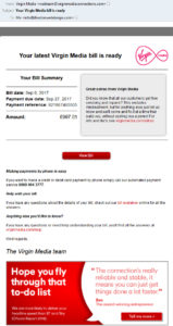 Scam Virgin Media Email