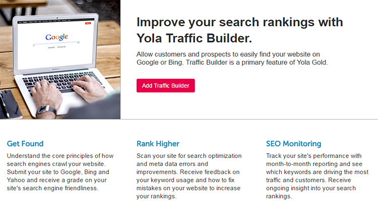 Yola Gold Traffic Builder