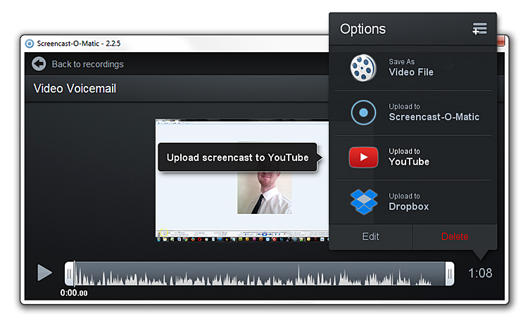 Screencast-O-Matic upload