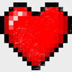 Pixelated Digital Heart