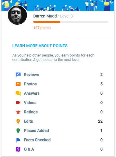 Google Local Guide Level 3 profile