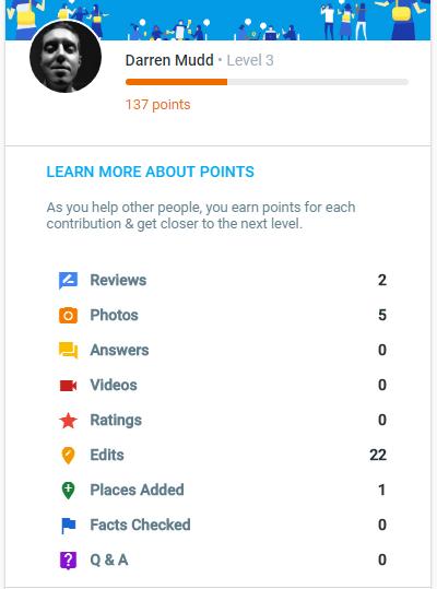 Google Local Guide Level 3 profile