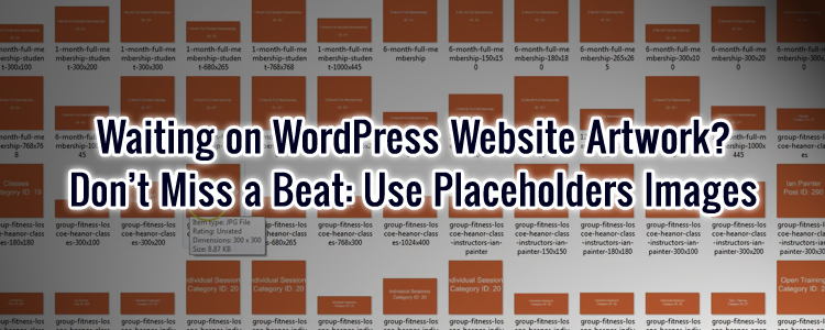 WordPress image placeholders for web layouts