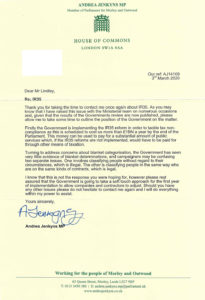 IR35 letter from MP of London Borough
