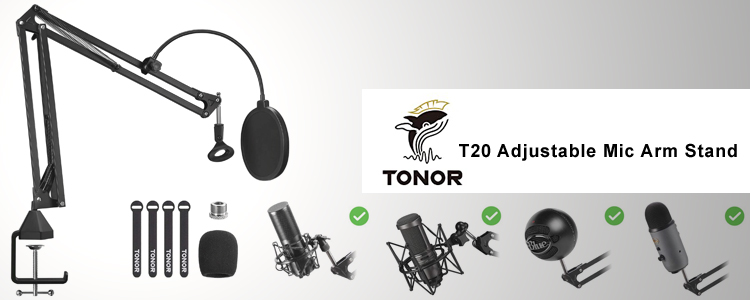 Tonor T20 Adjustable Microphone Stand