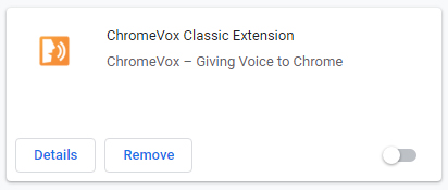 Screenshot of ChromeVox Classic Extension free screenreader for Chrome