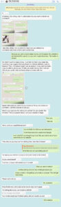 Screenshot of a WhatsApp conversation with a suspected investment fraudster